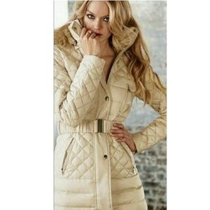 Moda International Quilted Down Jacket Coat Puffer